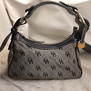 Authentic Grey Black Dooney & Bourke Purse Handbag